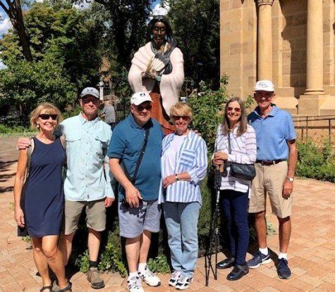 Group on an historic walk of Santa Fe