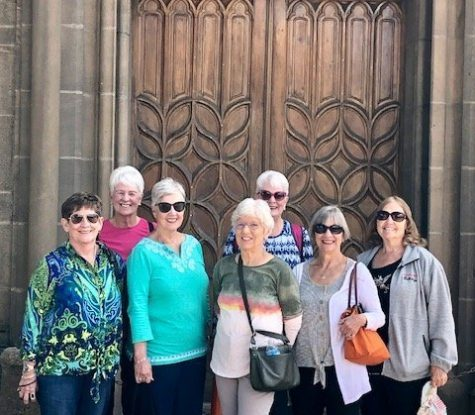 Donna & the Gals in front of Loretto Chapel