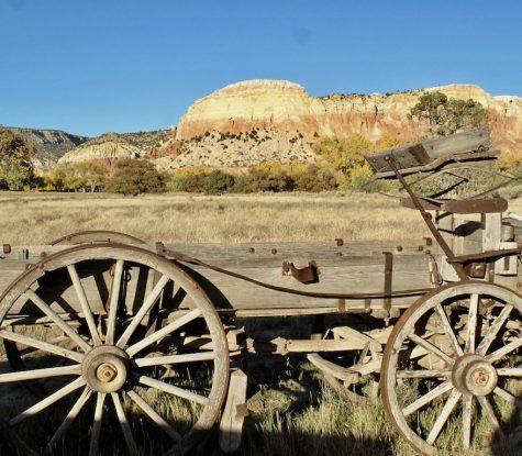 Wagon at Ghost Ranch