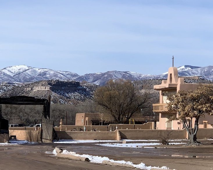 Pueblo with Mountains