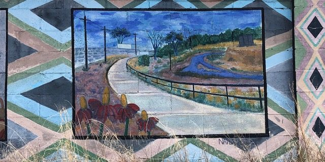 The winding road mural