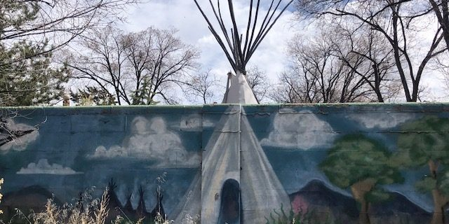 Teepee, painting or real?
