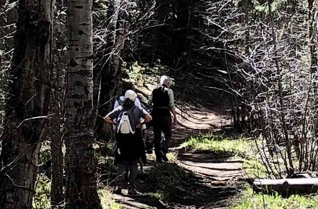 The group on the Borrego trail